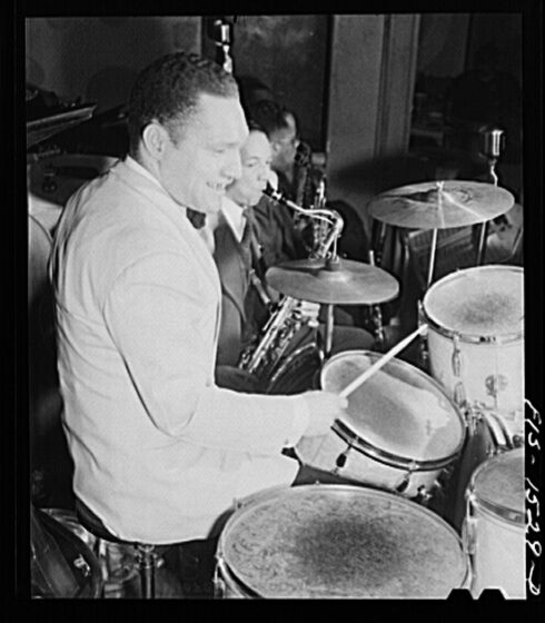 Red at the drums, April 1942