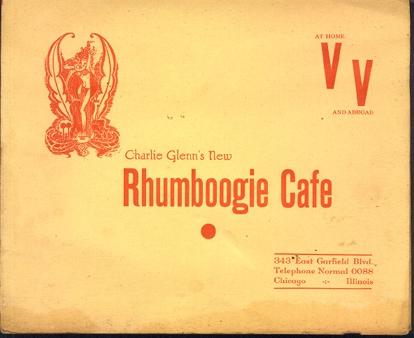 Advertising flyer from the New Rhumboogie Club