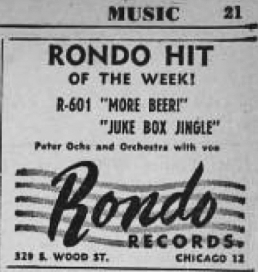Ad in Billboard for Rondo 601, January 22, 1949