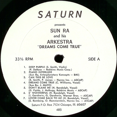 Saturn LP 485, A side label