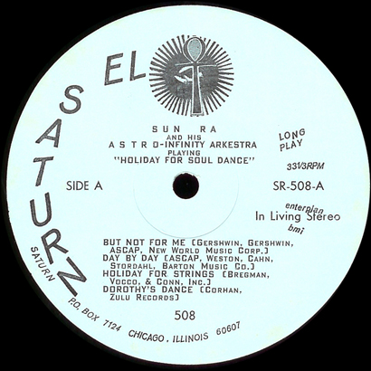 Saturn SR 508 Side A label