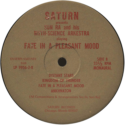 Side B label of Fate in a Pleasant Mood
