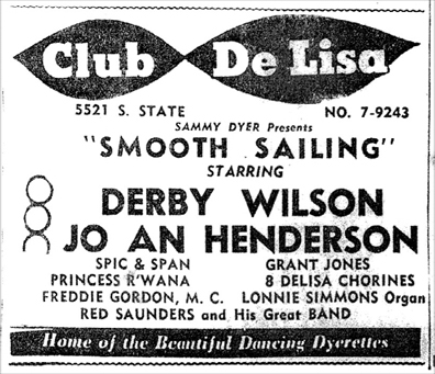The last Club DeLisa ad, January 25, 1958