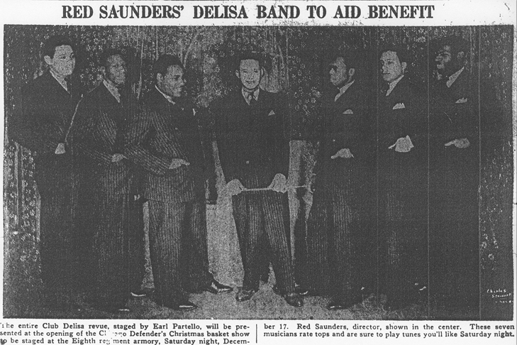 Red Saunders band in December 1938