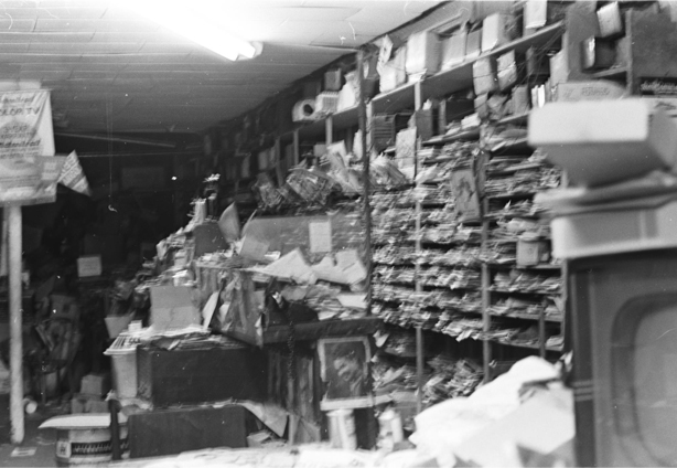 Shelves and dust in 1975