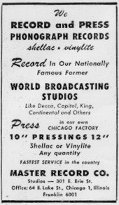 A 1947 ad for United Broadcasting Studios