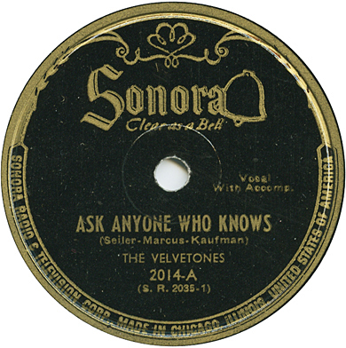 The Velvetones,