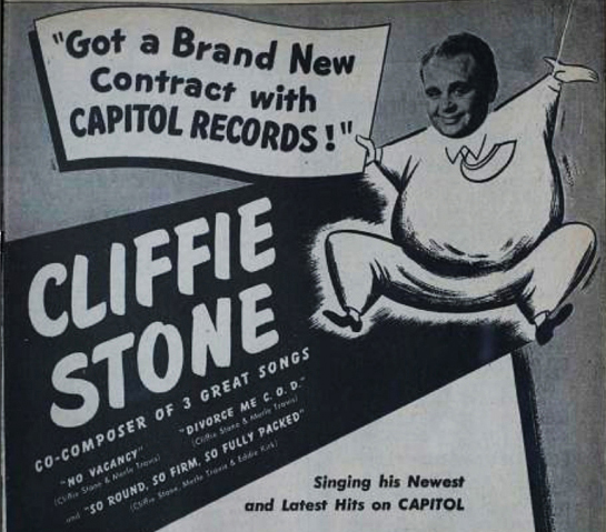 Cliffie Stone on Capitol, February 1, 1947