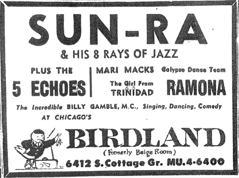 Sun Ra at  Birdland, January 7, 1956