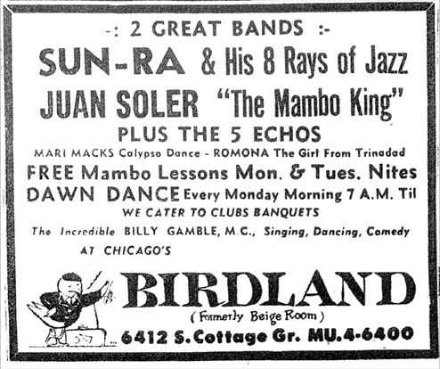 Sun Ra at Birdland, January 14, 1956