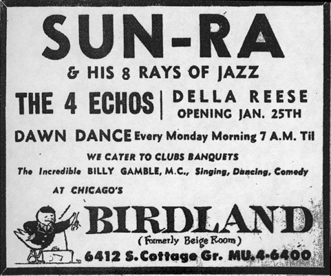 Sun Ra at Birdland, January 21, 1956