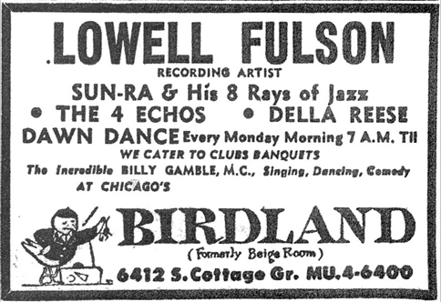 Sun Ra at Birdland, January 28, 1956