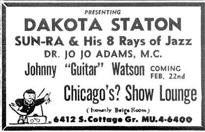Sun Ra at ex-Birdland, February 18, 1956