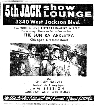 Arkestra at 5thJack, May 27, 1961