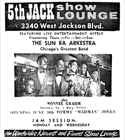 Arkestra at 5thJack, June 24, 1961