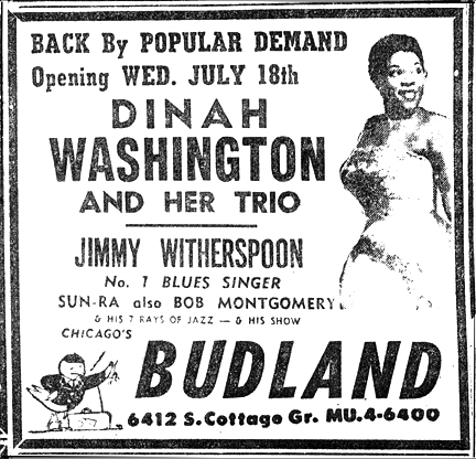 Sun Ra at Budland, July 14, 1956