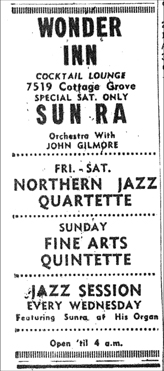 Arkestra at Wonder Inn, July 30, 1960