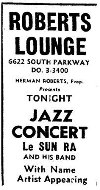 Sun Ra at Roberts Show Lounge, May 14, 1956