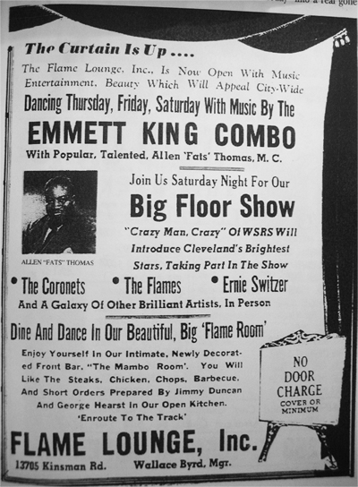 Fats Thomas ad in the Cleveland Call and Post, 1955