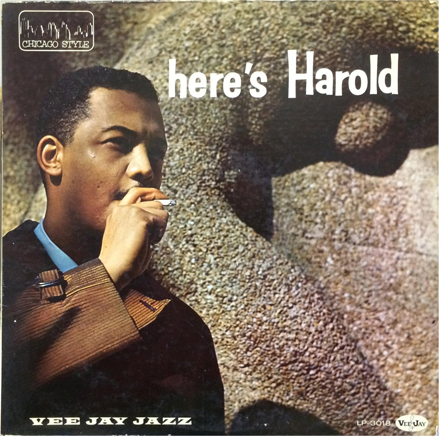 Harold Harris on the front cover of Vee-Jay LP 3018