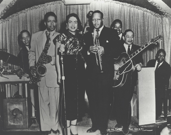 Tom Archia and Bill Martin at the Flame Lounge in 1952