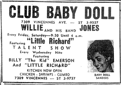 Willie Jones at Club Baby Doll, November 5, 1960