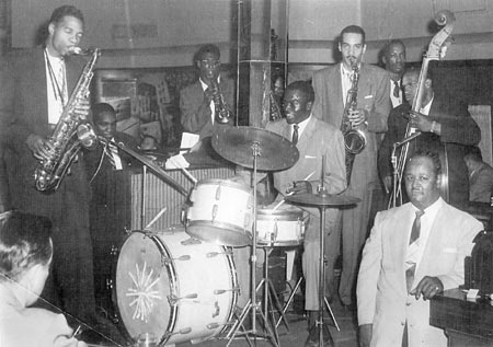 Jam session with Jelly Holt in 1957
