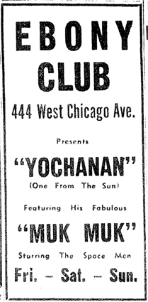 Yochanan at the Ebony Club, April 1960
