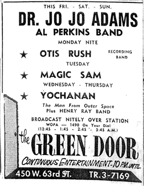 Yochanan at  the Green Door in 1959